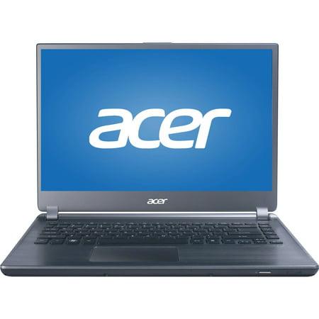"Manufacturer Refurbished Acer Ultrabook Aspire M5-481PT-53336G52Mass 14"" Laptop, Windows 8, Intel Core i5-3337U Processor, 6GB RAM, 500GB Hard Drive"