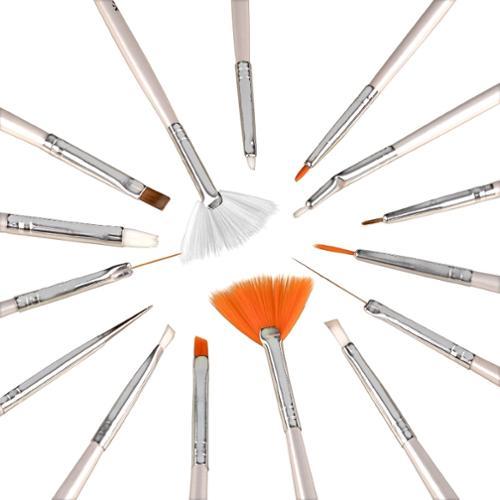 Zodaca 15 Pcs Nail Art Design Brush Set Painting Pen Tips Tool