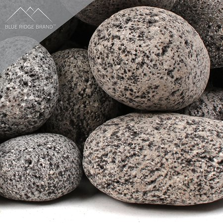Blue Ridge Brand Lava Rock   Tumbled Lava Stones For Fire Pit   Black Gray Volcanic Pebbles   Fire Glass Substitute   Landscaping Rocks