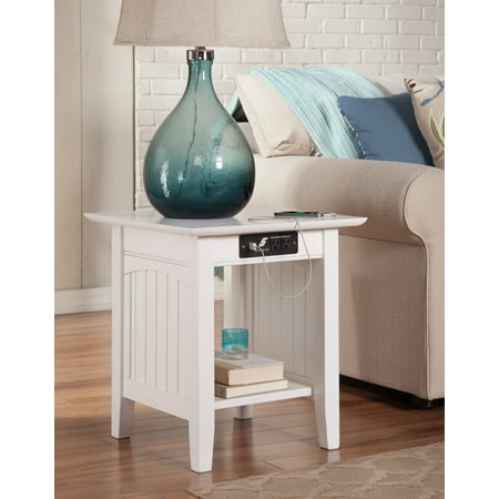 Nantucket End Table with Charging Station in Multiple Colors ()