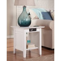 Nantucket End Table with Charging Station in Multiple Colors