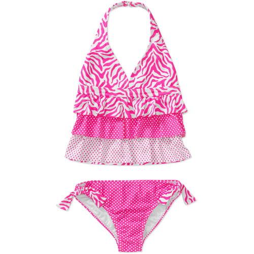 Op Girls Zebra Splash 2 Piece Tankini
