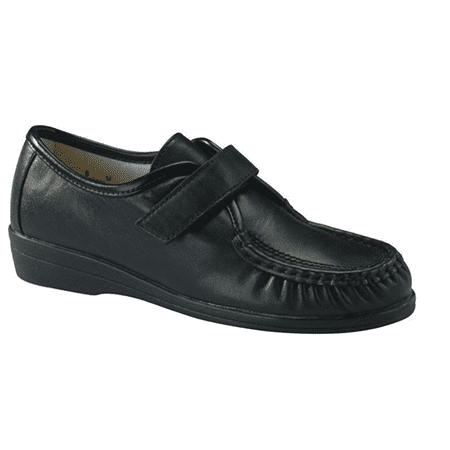 - Softspots ANGIE Womens Black Leather Comfort Walking Shoes