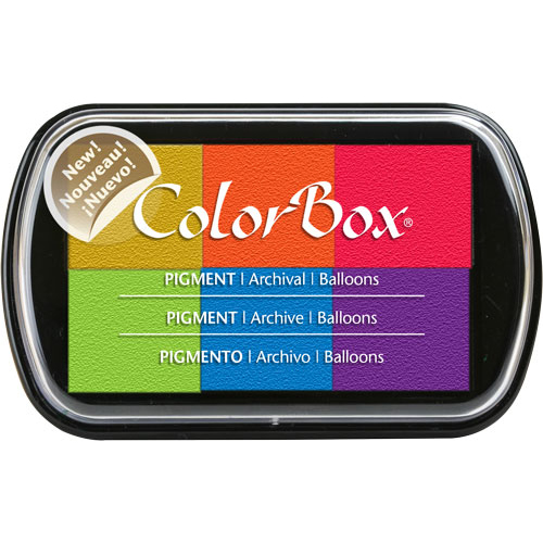 ColorBox Pigment Ink Pad 6 Colors-Balloons