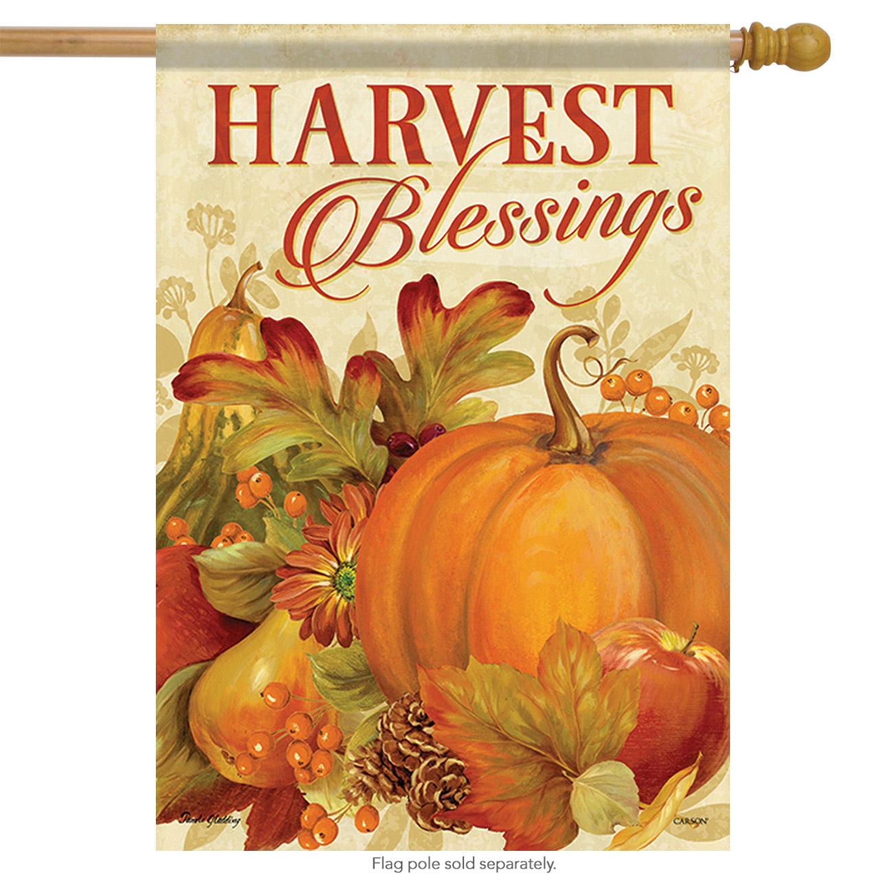 "Harvest Bounty Thanksgiving House Flag Cornucopia Fall Floral Autumn 28"" X 40"""