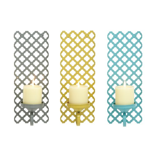 Decmode Metal Wall Sconce, Multi Color by DecMode