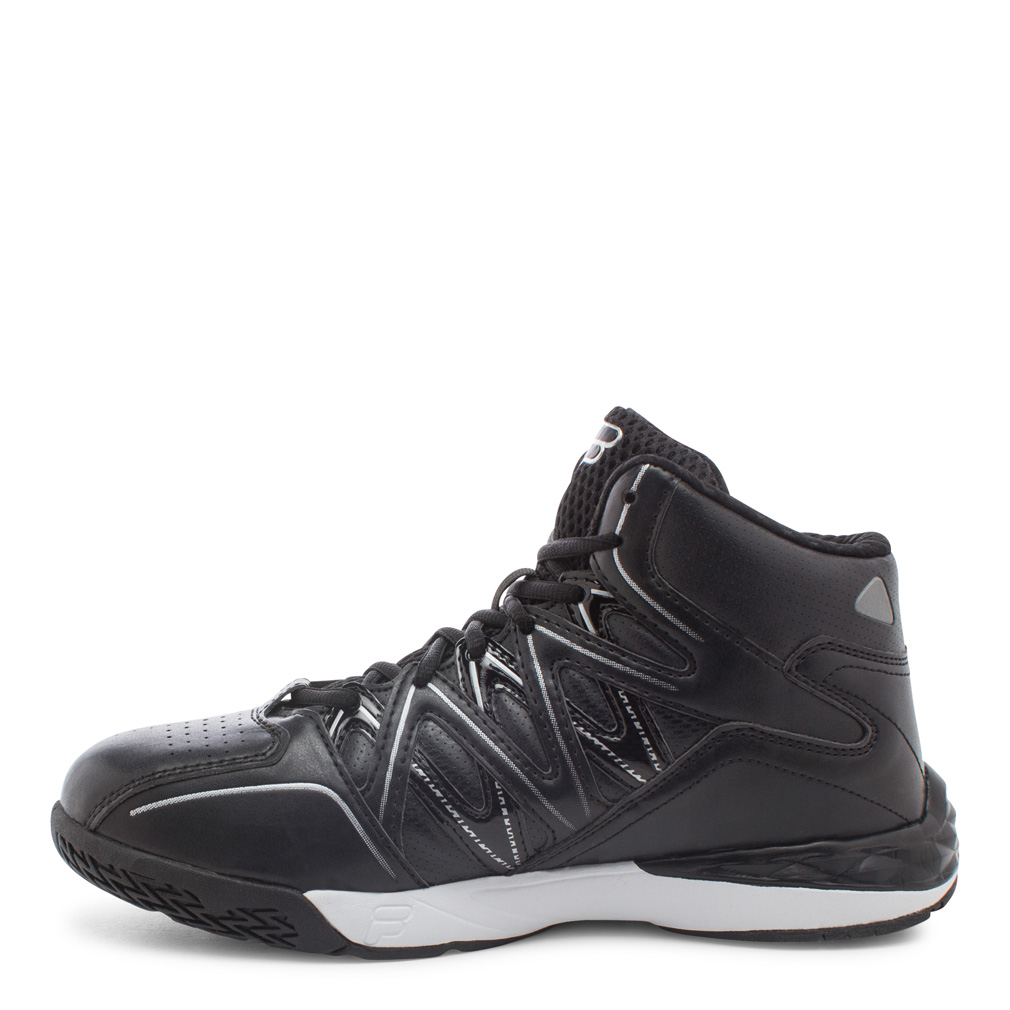 Fila POSTERIZER Mens Black Silver Athletic Basketball Shoes by Fila