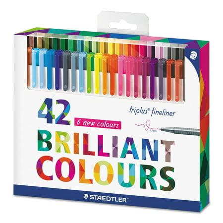 Staedtler Triplus Colour - Staedtler triplus Fineliner Marker, Super Fine, Water-Based, 42 Color Set -STD334C42