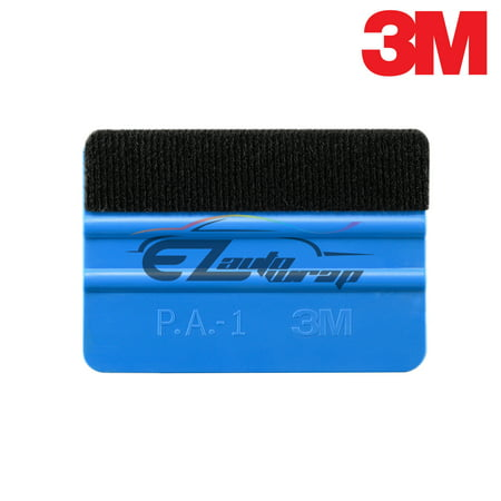 3M Blue Detailer Plastic Squeegee with Felt Tool Kit Decal Vinyl Wrap Tint - Decal Tint