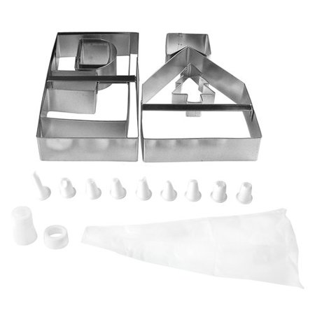 Fox Run Brands 16 Piece Gingerbread House Bake Set ()