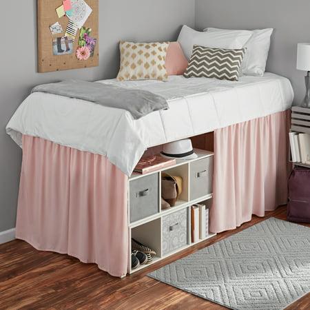 mainstays extra long extended dorm bed skirt 1 each. Black Bedroom Furniture Sets. Home Design Ideas