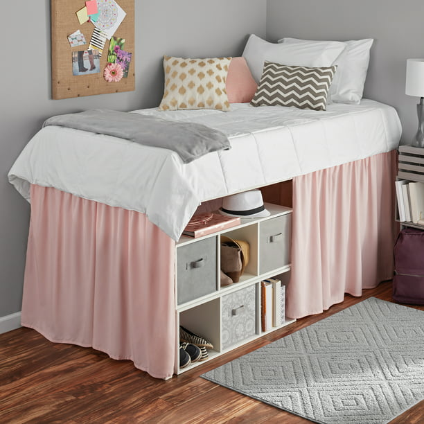 Mainstays Extra Long Extended Dorm Bed Skirt 1 Each Walmart Com Walmart Com