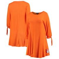 Oklahoma State Cowboys Women's Tie the Knot Tied Sleeve Dress - Orange