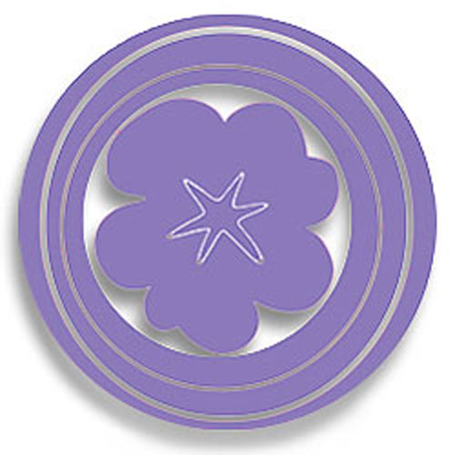 Purple Hooplas Flowers/Circles Wall Accent Stickers