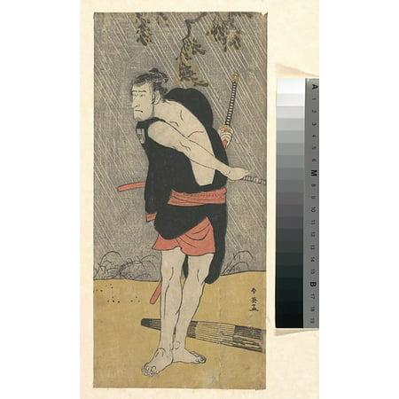 The Actor Ichikawa Komazo Ii As A Samurai In Fighting Trim Poster Print By Katsukawa Shunei  Japanese 1762 1819   18 X 24