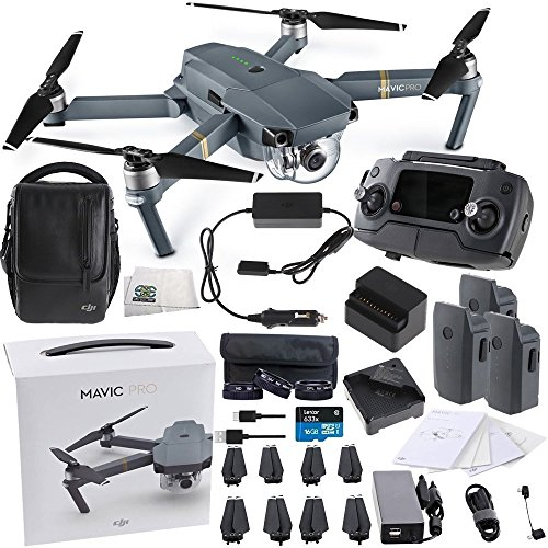 DJI Mavic Pro FLY MORE COMBO Collapsible Quadcopter Videographer Bundle