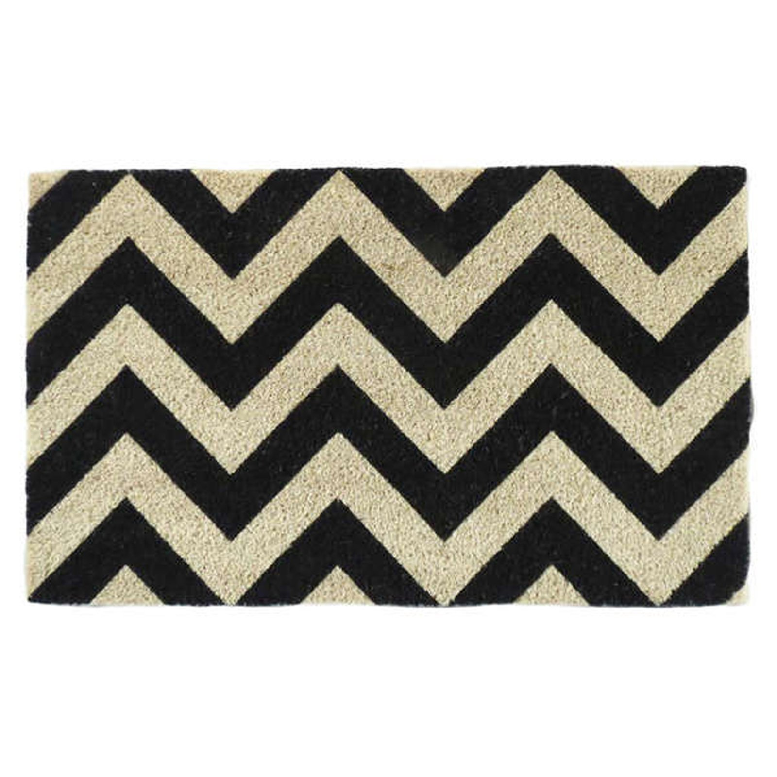 First Impression Chevron Pattern Printed Outdoor Doormat