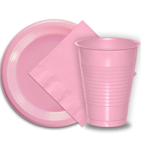 Pink Cowgirl Party Supplies (50 Pink Plastic Plates (9