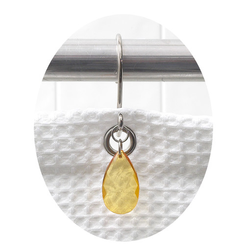"""Prism"" Resin Shower Curtain Hooks in Gold"