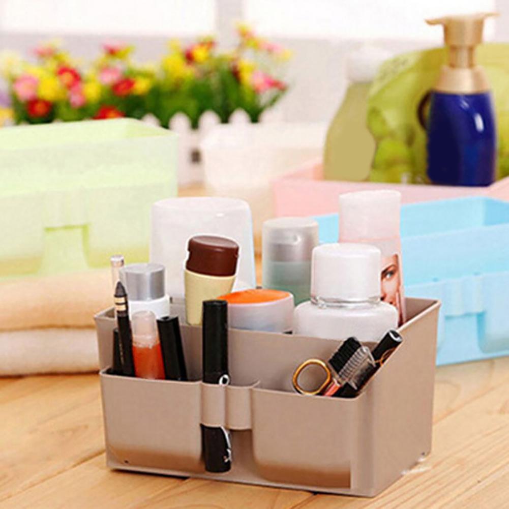 Stationery Organizer Foldable Makeup Box Fabric Bin Pen Basket Desktop Storage