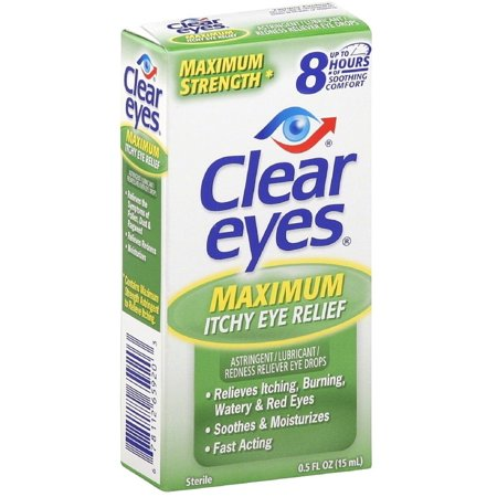 6 Pack - Clear Eyes Maximum Itchy Eye Relief 0.50