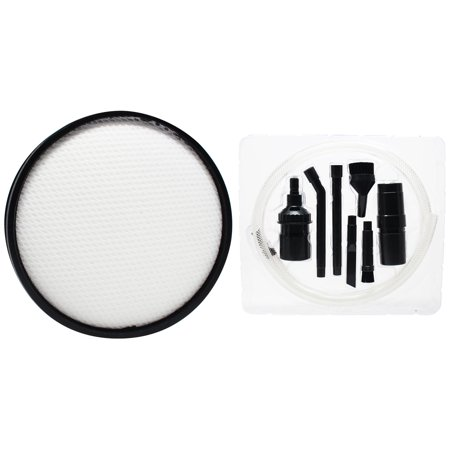 Replacement Hoover UH70905 Vacuum Primary Filter with 7-Piece Micro Vacuum Attachment Kit - Compatible Hoover Windtunnel 303903001 Primary (Hoover Windtunnel Attachments)