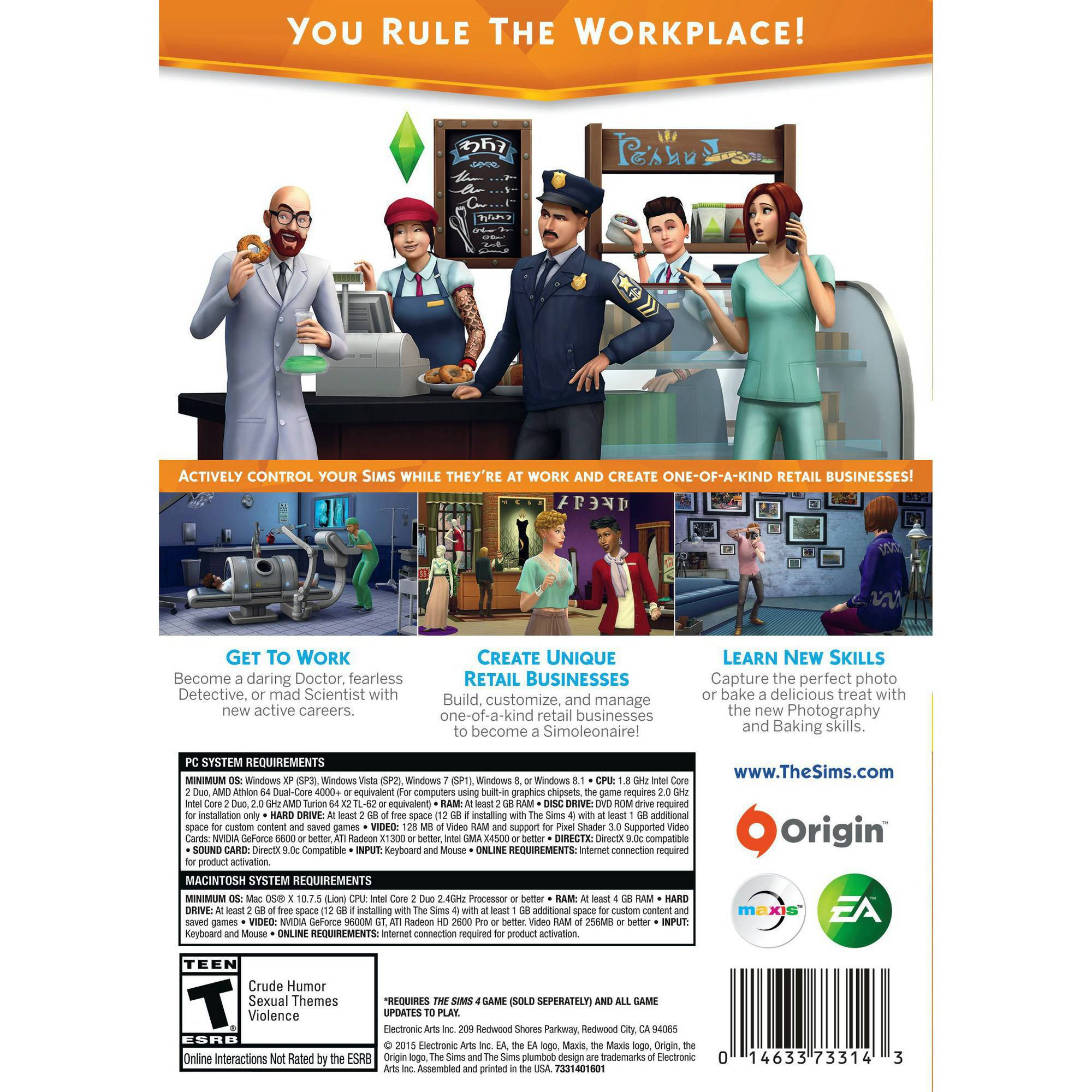 The SIMS 4: Get to Work Expansion Pack, Electronic Arts, PC