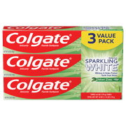 Colgate Sparkling White Mint Zing 6 oz. Toothpaste, 3 Pack