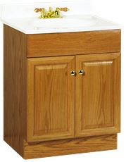 RSI HOME PRODUCTS RICHMOND BATHROOM VANITY CABINET WITH TOP, FULLY  ASSEMBLED, 2 DOOR,