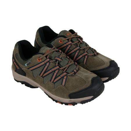 Hi-Tec Dexter Low Wp Mens Brown Suede Athletic Lace Up Hiking Shoes