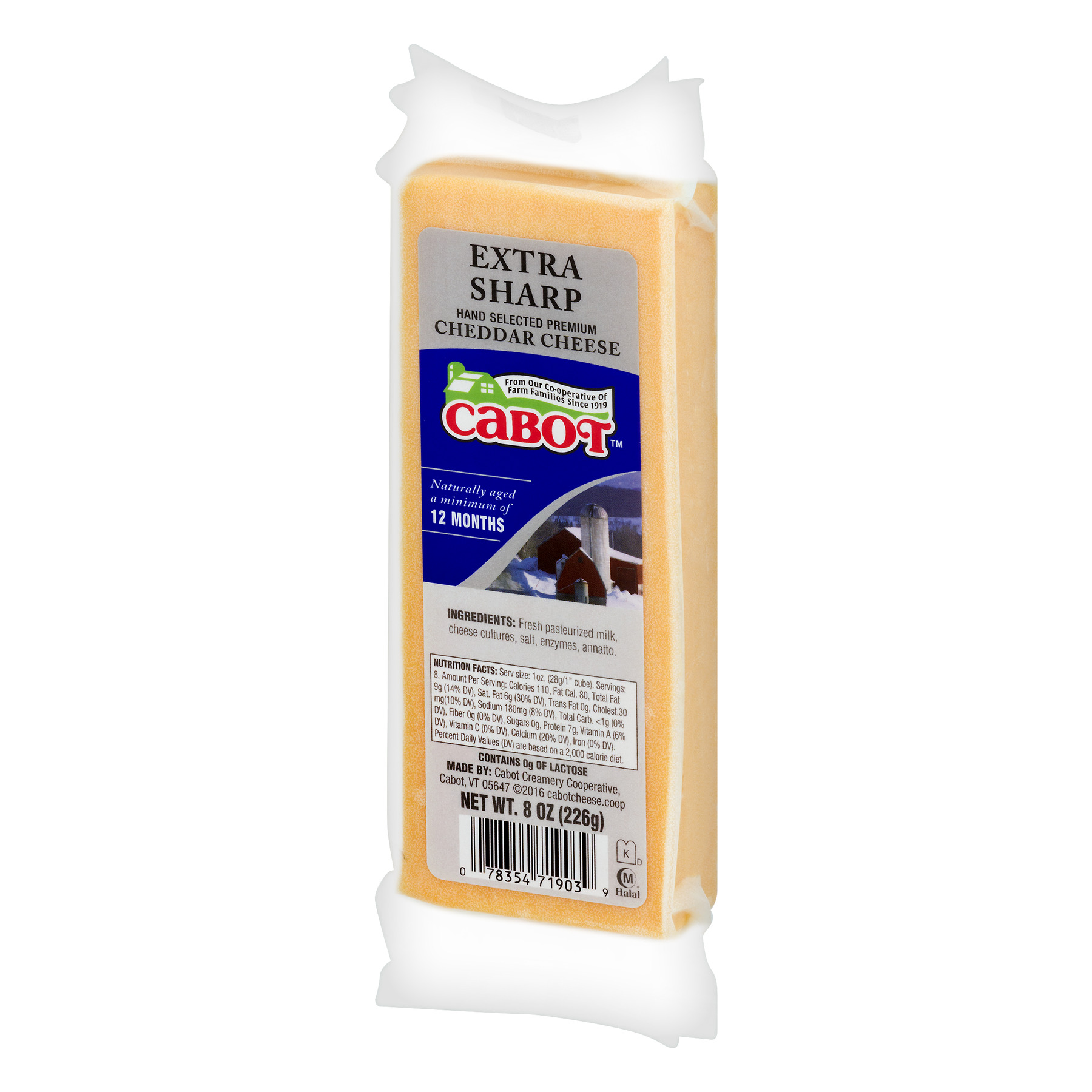 Cabot Cheddar Cheese Extra Sharp, 8 oz - Walmart com