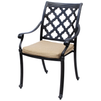 Camino Real Cast Aluminum Outdoor Patio Dining Chair