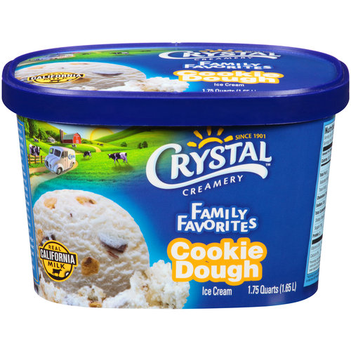 Crystal Creamery Family Favorites Cookie Dough Ice Cream, 1.75 qt