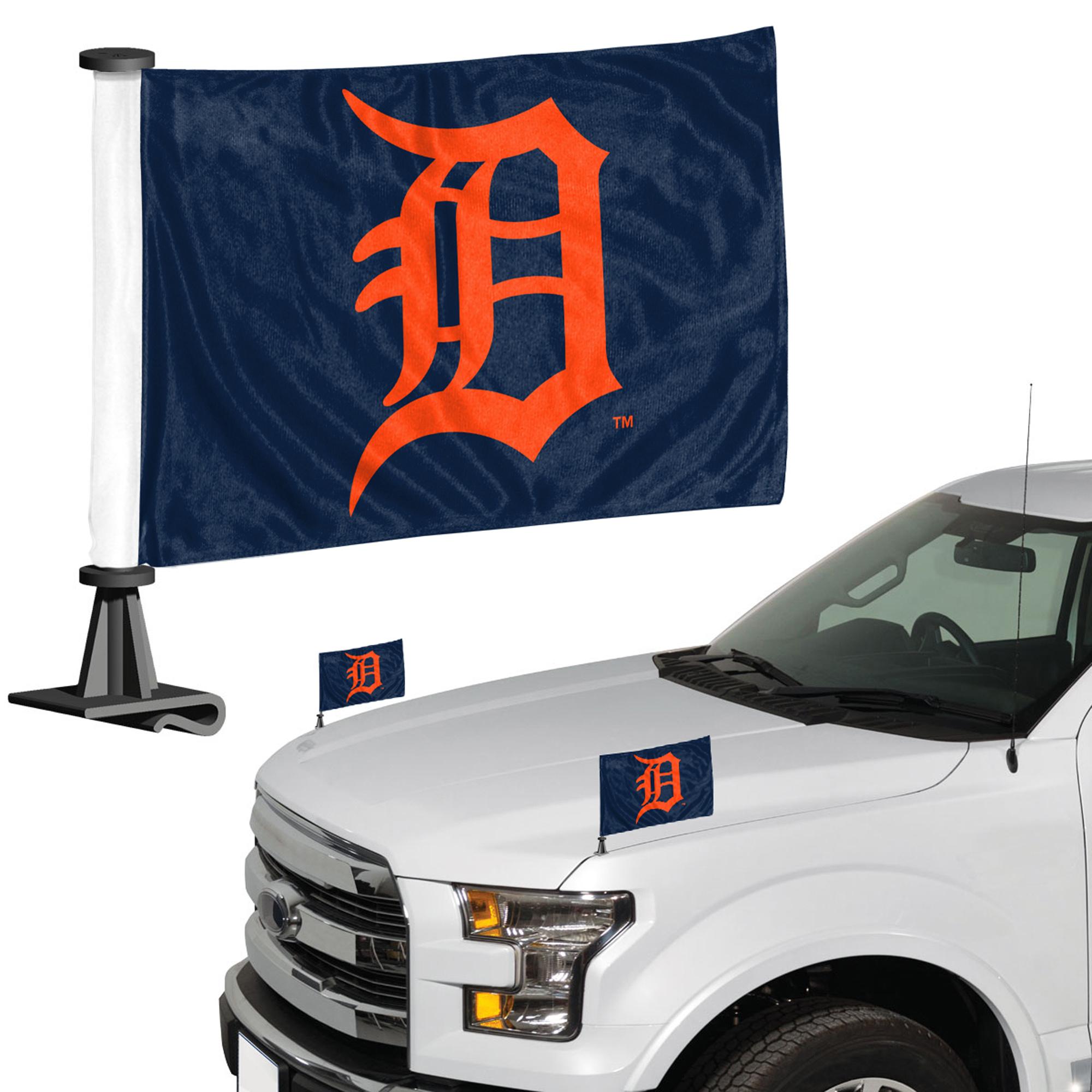 Detroit Tigers Auto Ambassador Flag Set - No Size
