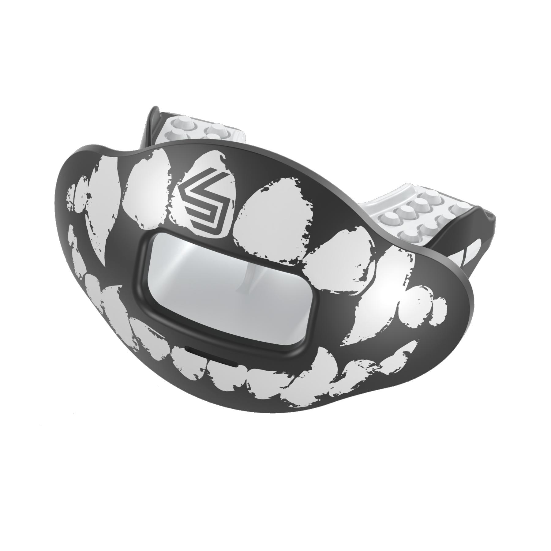 SHOCK DOCTOR Max AirFlow 2.0 Lip Guard Conv Blk/Wht Fang OSFA (3) OSFA