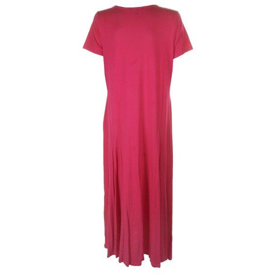 Lauren Ralph Lauren Plus Size Pink Short-Sleeve Fit & Flare Maxi Dress 1X