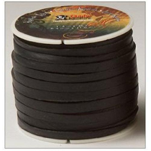 "Kodiak Lace 1/4"" x 36 ft. (6.4 mm x 11 M) Black by Tandy Leather # 5076-01"