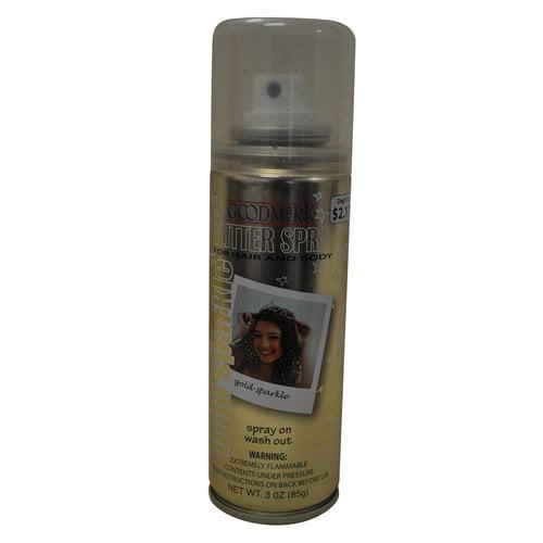 Goodmark Temporary Hair and Body Glitter Spray, Gold