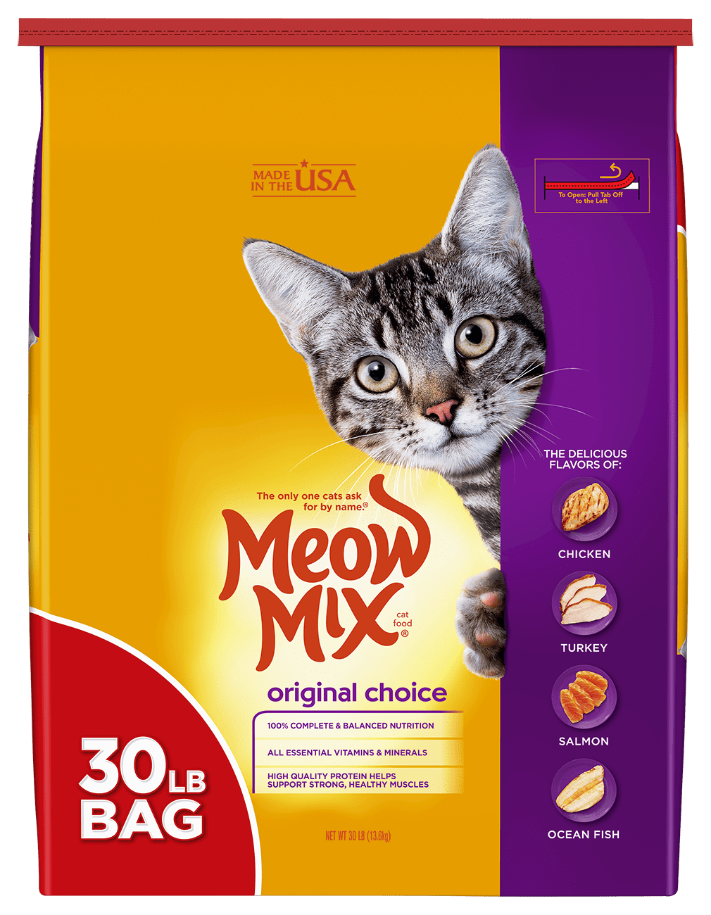 Click here to buy Meow Mix Original Choice Dry Cat Food, 30 lb by The J.M. Smucker Company.