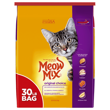 Meow Mix Original Choice Dry Cat Food, 30-Pound (Best Food For Struvite Crystals In Cats)