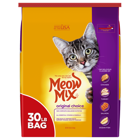 Meow Mix Original Choice Dry Cat Food, 30-Pound