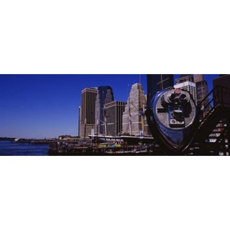 Close-up of a Coin-Operated Binoculars South Street Seaport Manhattan New York City New York State USA Canvas Art - Panoramic Images (36 x
