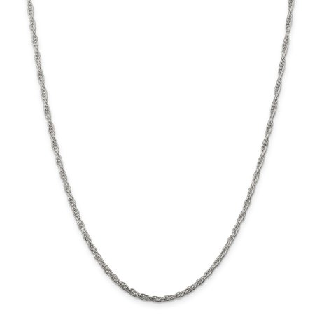 925 Sterling Silver 2.5mm Loose Rope Chain 24 Inch - image 5 de 5