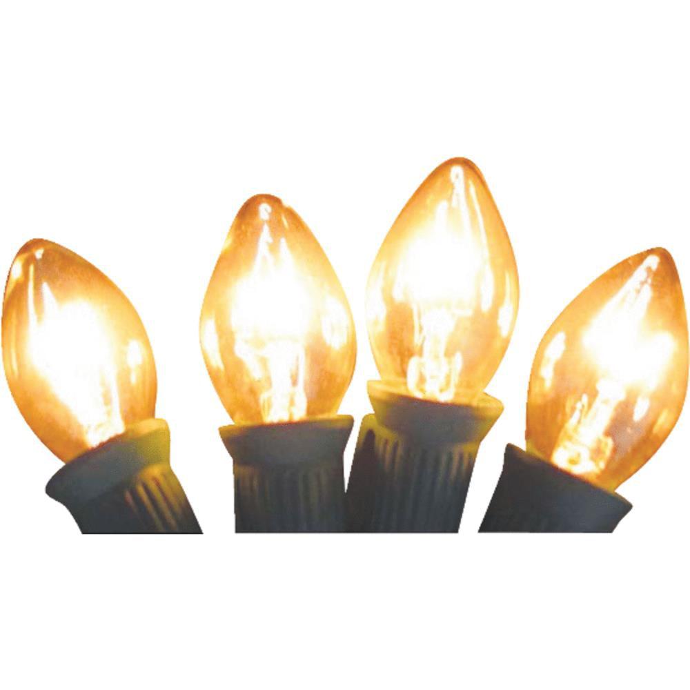 J Hofert 4Pk C9 Clear Trans Bulb