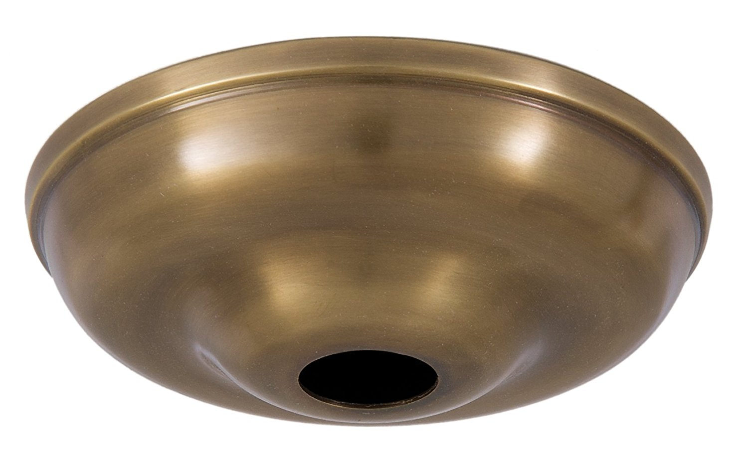 5 1 2 Inch Antique Brass Round Canopy (Only), 5 1 2 Inch Antique Brass Round Canopy (only) By B&P Lamp by