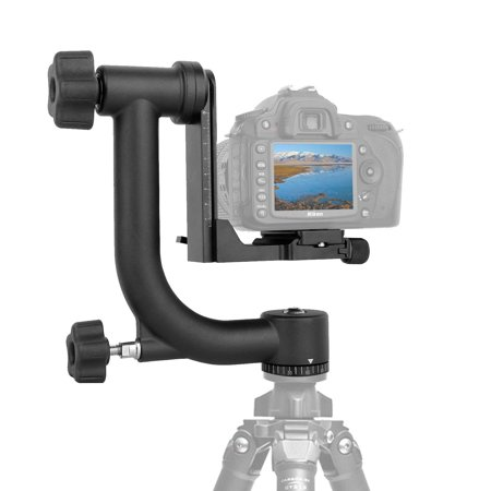 Arca Swiss Clamp (Kamisafe Heavy Duty Aluminum 360 Degree Panoramic Gimbal Tripod Head Mount Tray with 1 4 Arca Swiss Quick)