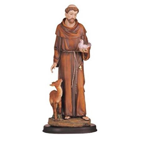 George S. Chen Imports 5-Inch Saint Francis Holy Figurine Religious Decoration Statue - St Francis Statue