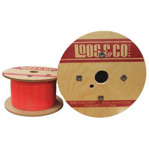 LOOS GC06377M2VRFL Cable,100 ft.,Red Vinyl,1/16 in.,96 lb. G2412877