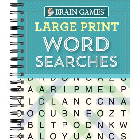 Brain Games Large Print Word Searchs