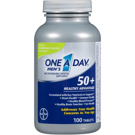 - One A Day Men's 50+ Healthy Advantage Multivitamin, 100 Count